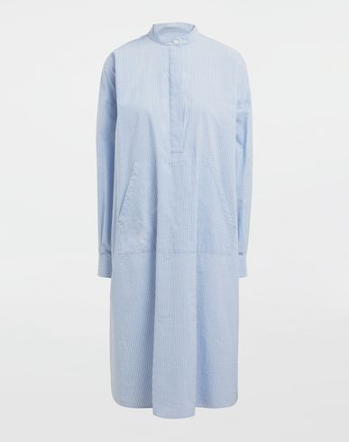 DRESSES Logo-print poplin shirt dress Sky blue
