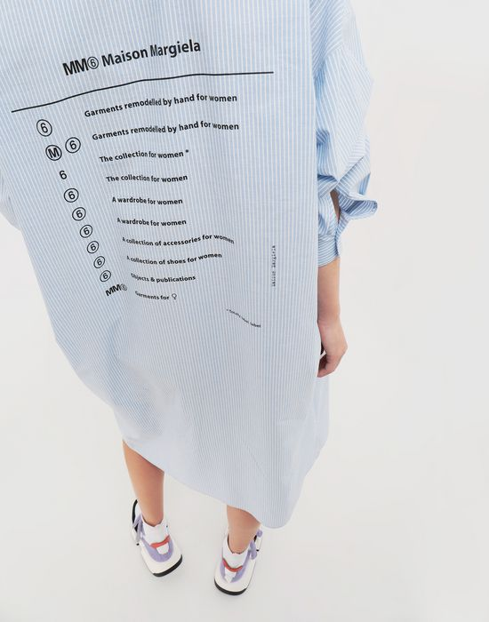 MM6 MAISON MARGIELA Logo-print poplin shirt dress 3/4 length dress [*** pickupInStoreShipping_info ***] a