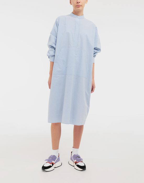 MM6 MAISON MARGIELA Logo-print poplin shirt dress 3/4 length dress [*** pickupInStoreShipping_info ***] d