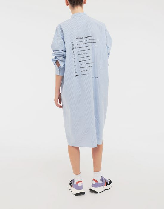 MM6 MAISON MARGIELA Logo-print poplin shirt dress 3/4 length dress [*** pickupInStoreShipping_info ***] e