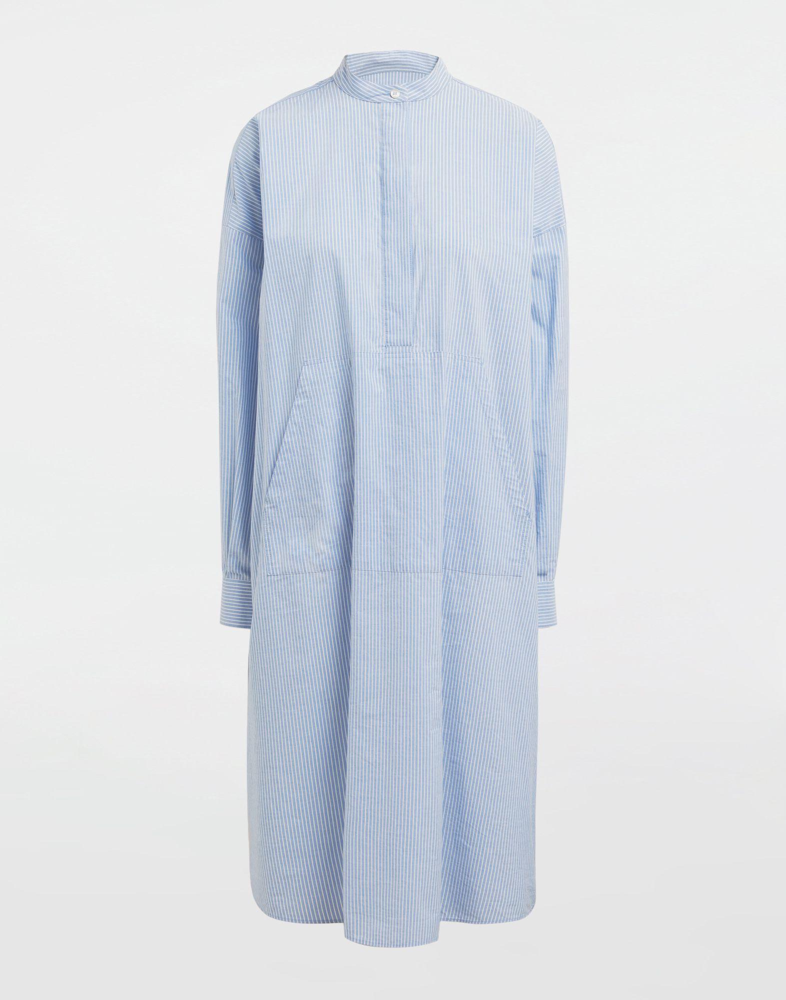 MM6 MAISON MARGIELA Robe chemise en popeline avec imprimé logo Robe mi-longue Femme f
