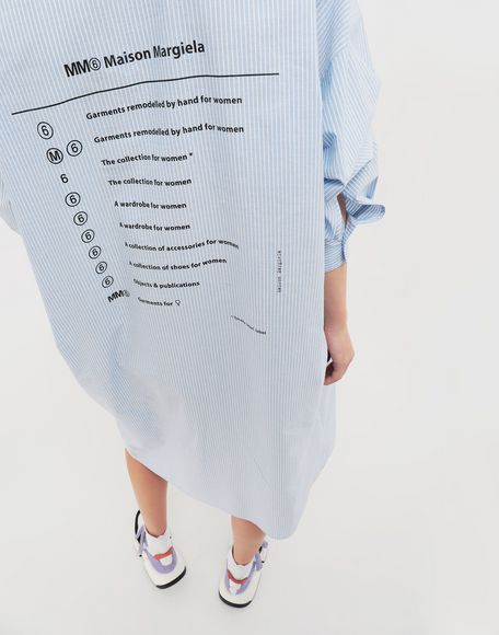 MM6 MAISON MARGIELA Logo-print poplin shirt dress 3/4 length dress Woman a