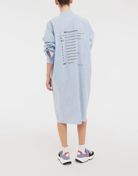 MM6 MAISON MARGIELA Logo-print poplin shirt dress 3/4 length dress Woman e