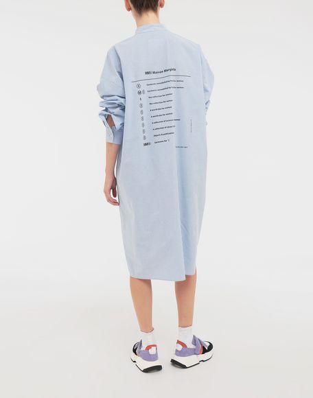 MM6 MAISON MARGIELA Robe chemise en popeline avec imprimé logo Robe mi-longue Femme e
