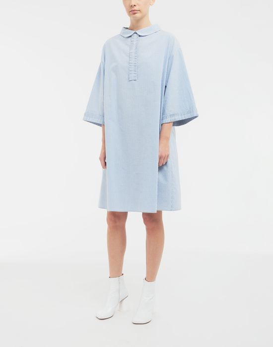MM6 MAISON MARGIELA School uniform midi shirt dress 3/4 length dress [*** pickupInStoreShipping_info ***] r