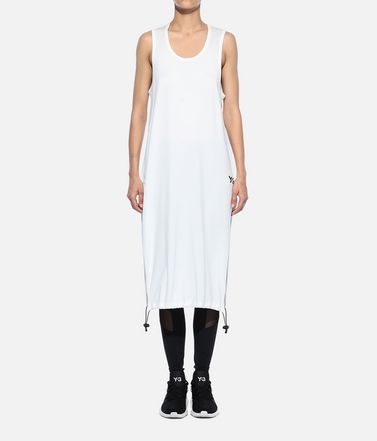 Y-3 Sleeveless t-shirt Woman Y-3 Drawstring Long Tank Top r