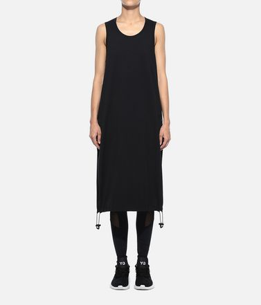 Y-3 3/4 length dress Woman Y-3 Drawstring Long Tank Top r