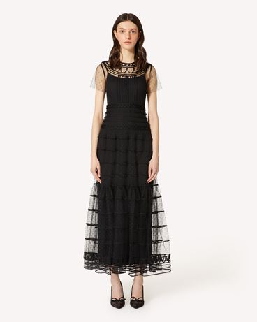 REDValentino PR3VAR9A3QD 0NO Long dress Woman f