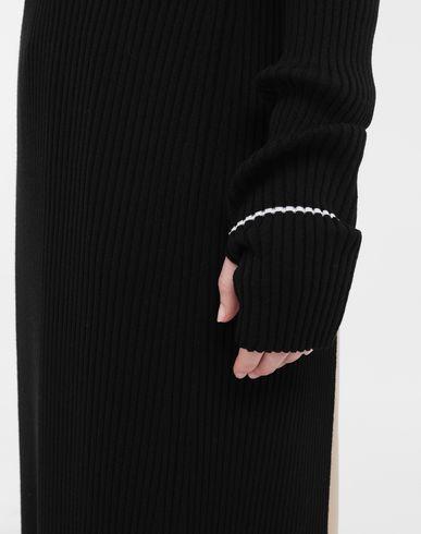 ПЛАТЬЯ Длинное трикотажное платье из линии NewBasic Ribs Черный