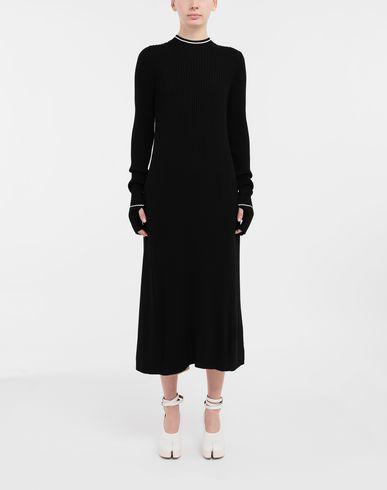 ROBES NewBasic Ribs knit maxi dress Noir