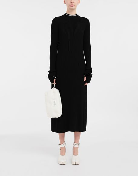 MAISON MARGIELA NewBasic Ribs knit maxi dress 3/4 length dress Woman d