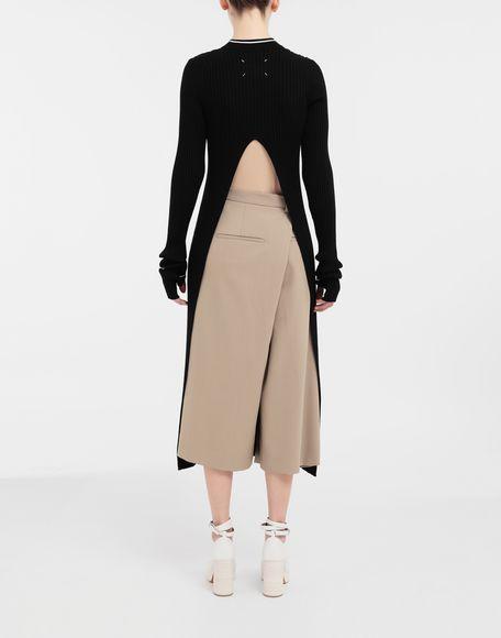 MAISON MARGIELA NewBasic Ribs knit maxi dress 3/4 length dress Woman e