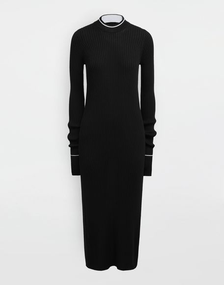 MAISON MARGIELA NewBasic Ribs knit maxi dress 3/4 length dress Woman f