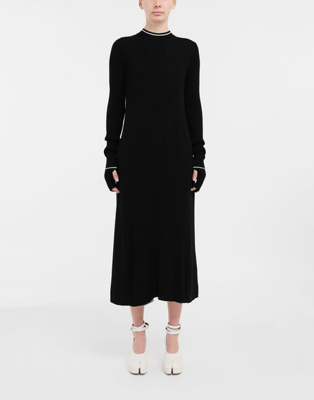 MAISON MARGIELA NewBasic Ribs knit maxi dress 3/4 length dress Woman r
