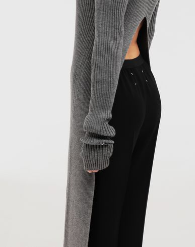 ROBES NewBasic Ribs knit maxi dress Gris