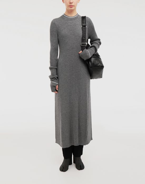 MAISON MARGIELA NewBasic Ribs knit maxi dress 3/4 length dress [*** pickupInStoreShipping_info ***] d