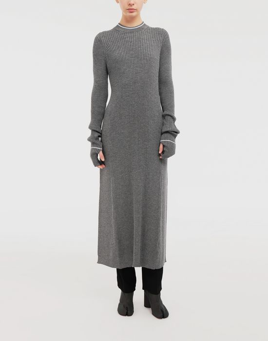 MAISON MARGIELA NewBasic Ribs knit maxi dress 3/4 length dress [*** pickupInStoreShipping_info ***] r