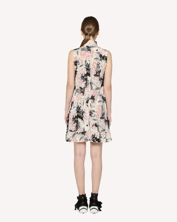 REDValentino Silk dress with Lunar Daisy print