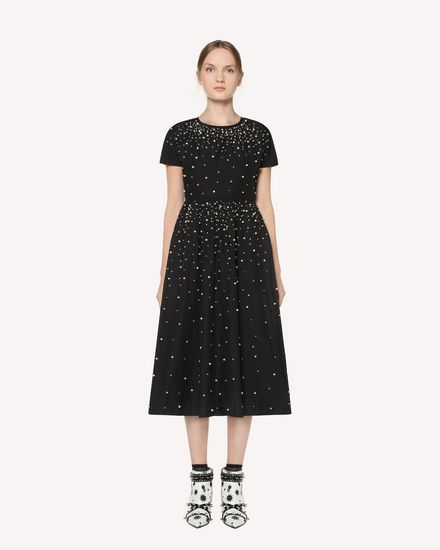 REDValentino Printed dress Woman RR3VA00CXZF 0NO f