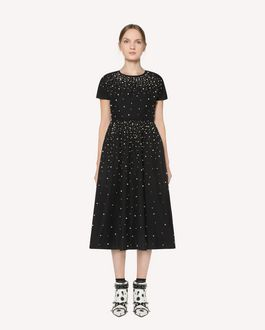 REDValentino Taffeta dress with pearl detail