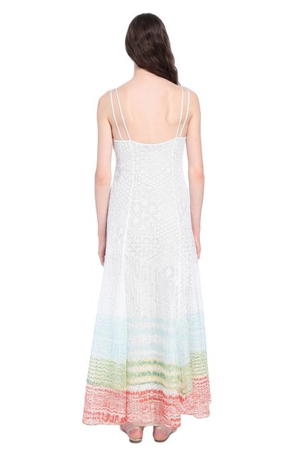 MISSONI Long dress White Woman - Front