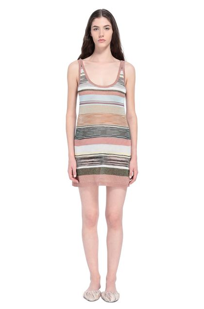 MISSONI Dress Pastel pink Woman - Back