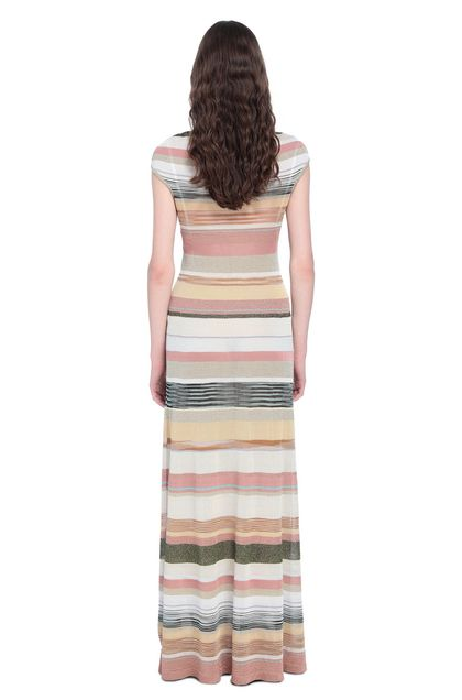 MISSONI Long dress Pastel pink Woman - Front