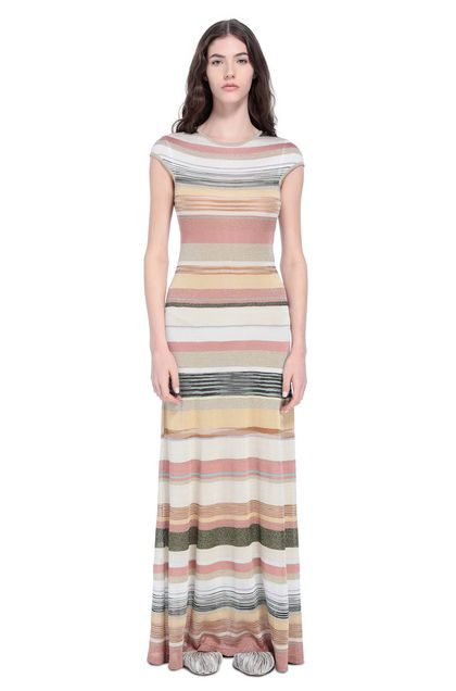 MISSONI Long dress Pastel pink Woman - Back