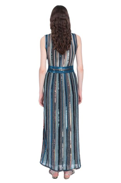 MISSONI Long dress Azure Woman - Front