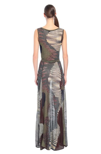 MISSONI Long dress Brown Woman - Front