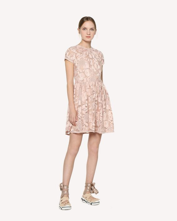 REDValentino Tulle dress with flower embroidery