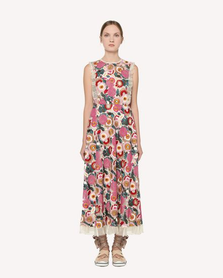 REDValentino Printed dress Woman RR3VA01EGJU A03 f