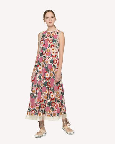 REDValentino RR3VA01EGJU A03 Kleid mit Prints Damen d