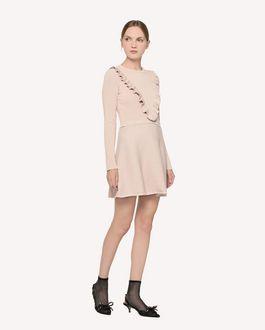 REDValentino Cotton lurex knit dress