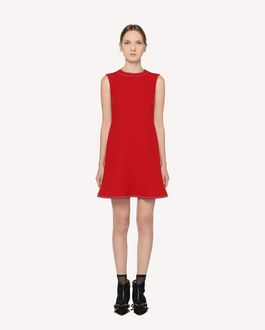 REDValentino Fused Crepe dresswith dotted line embroidery