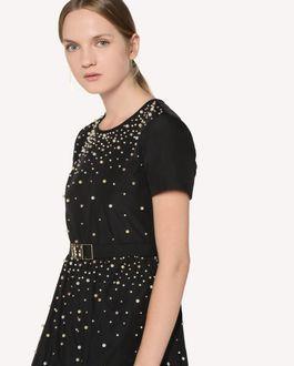 REDValentino Taffeta dress with pearl detail