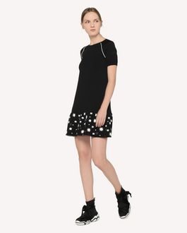 REDValentino Stars and Shadows jacquard stretch viscose knit dress