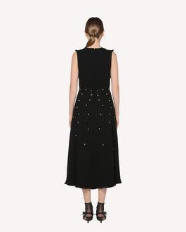 REDValentino Платье из креп-сабле со стразами и пайетками