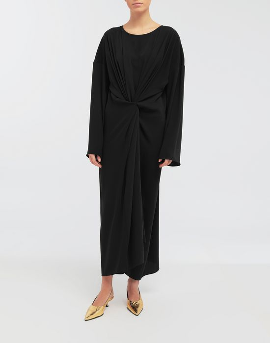 MM6 MAISON MARGIELA Draped maxi dress Long dress [*** pickupInStoreShipping_info ***] r