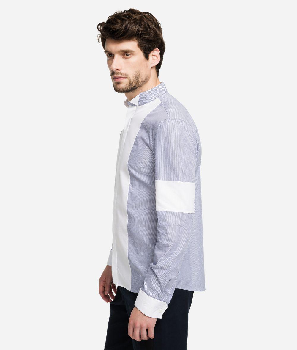 KARL LAGERFELD Pinstripe Bib Shirt  Shirt Man d