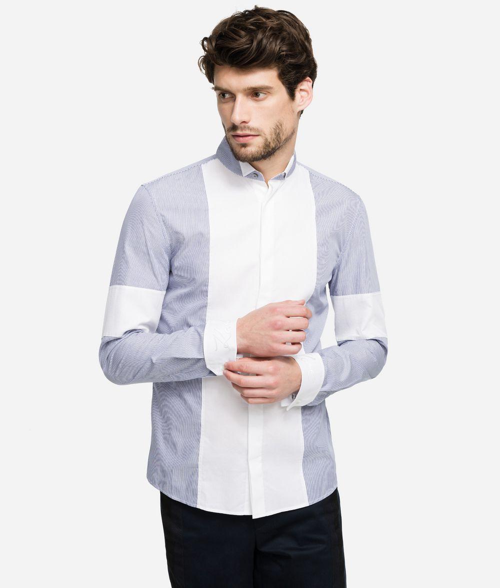 KARL LAGERFELD Pinstripe Bib Shirt  Shirt Man f
