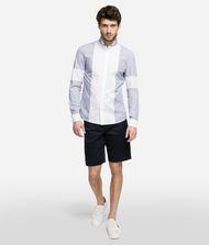 KARL LAGERFELD Pinstripe Bib Shirt  9_f