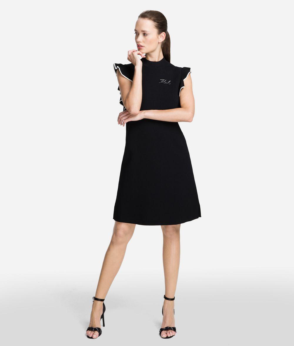KARL LAGERFELD Ruffle Sleeve Sweater Dress Woman f