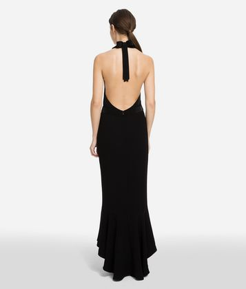 KARL LAGERFELD HALTER-NECK DRESS
