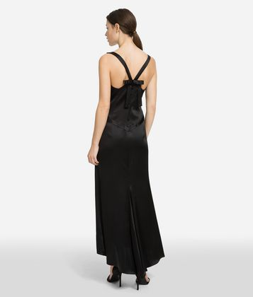 KARL LAGERFELD FLUTED HEM DRESS
