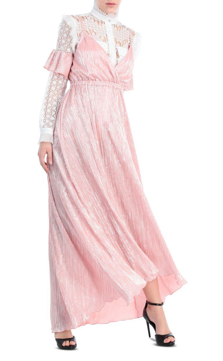 JUST CAVALLI Full-length pleated dress in lurex Long dress [*** pickupInStoreShipping_info ***] d