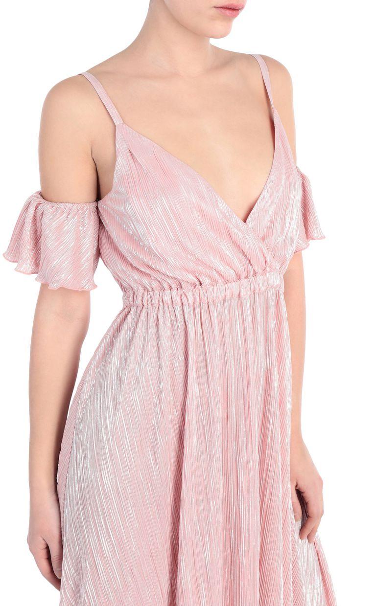 JUST CAVALLI Full-length pleated dress in lurex Long dress [*** pickupInStoreShipping_info ***] e