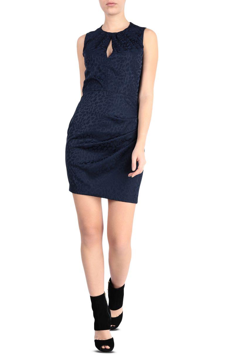 JUST CAVALLI Short leopard-jacquard dress Dress Woman f