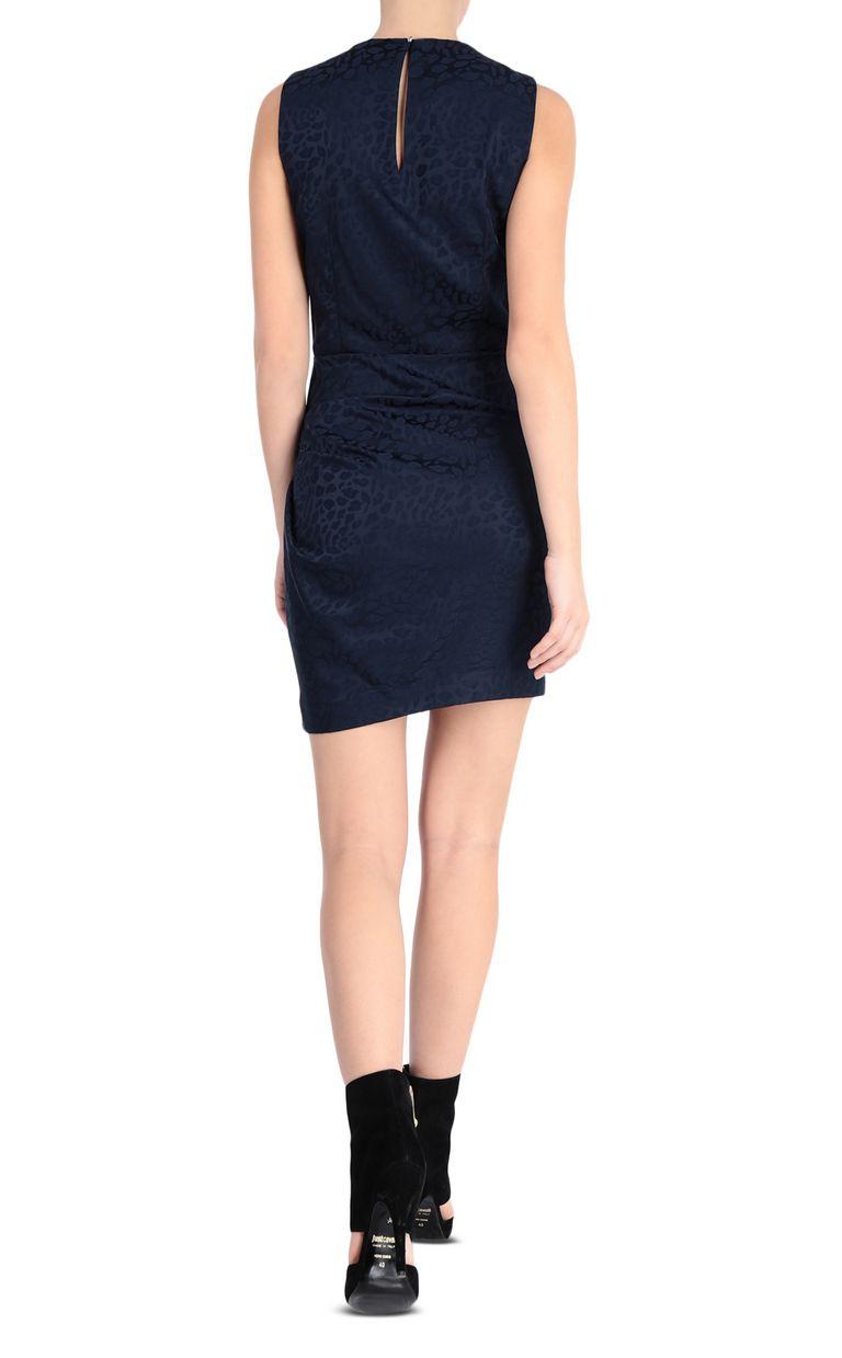 JUST CAVALLI Short leopard-jacquard dress Dress Woman r
