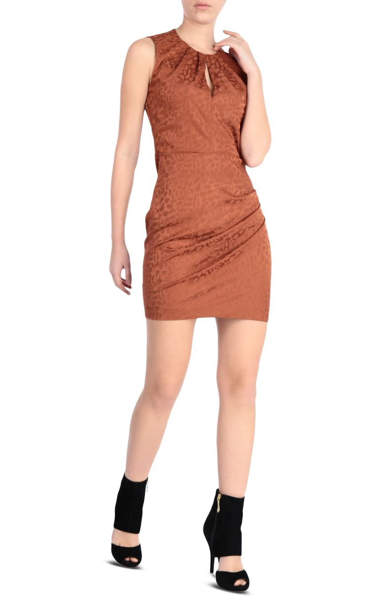 JUST CAVALLI Short leopard-jacquard dress Dress [*** pickupInStoreShipping_info ***] d